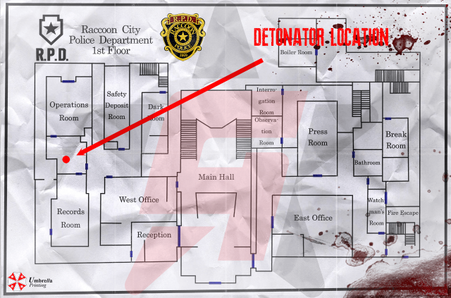 Resident Evil 2 Remake Detonator Location