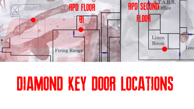 Resident Evil 2 remake Diamond Key Door Locations
