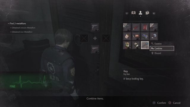 Resident Evil 2 remake discard items