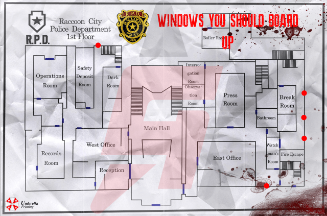 Resident Evil 2 windows you should board up