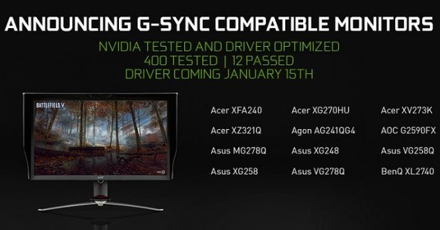 Nvidia freesync driver support