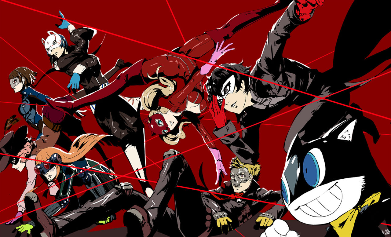 here is what persona 5 would look like for the game boy advance