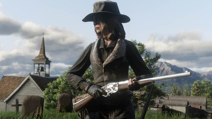 Red Dead Redemption 2 Evans Repeater in-game