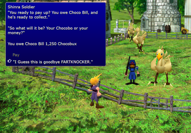 FF7 Chocobo Ranch Debt