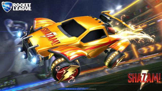 Shazam items in Rocket League
