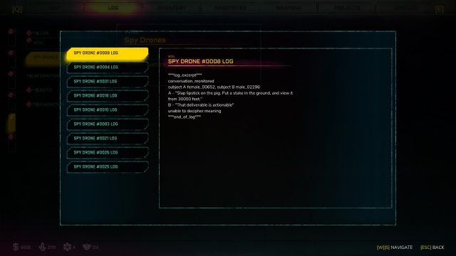 Rage 2 spy drones log