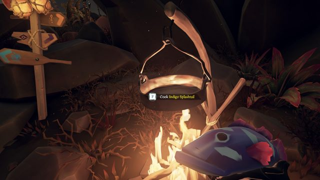 How to cook fish in Sea of Thieves