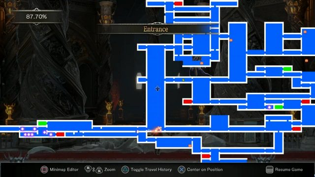 Bloodstained Entrance invert location
