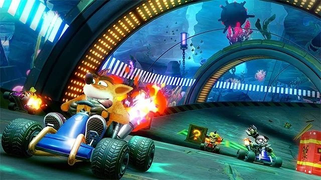 Crash Team Racing Nitro-Fueled split screen