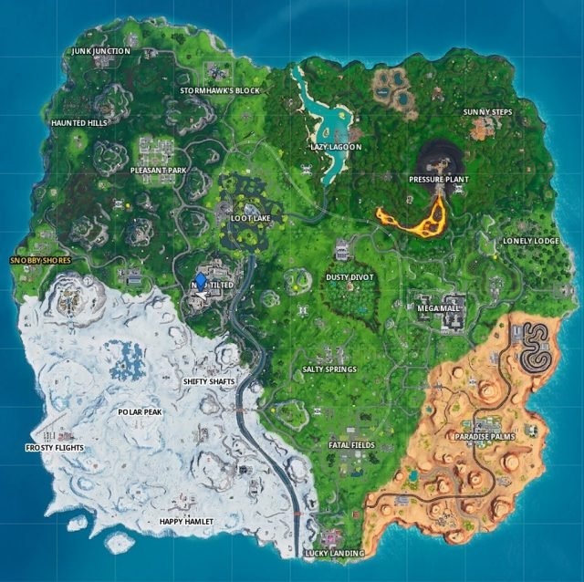 Fortnite Fortbyte 43 Location map
