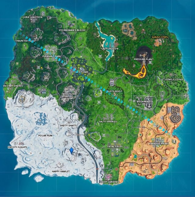Fortnite Fortbyte 48 Location map