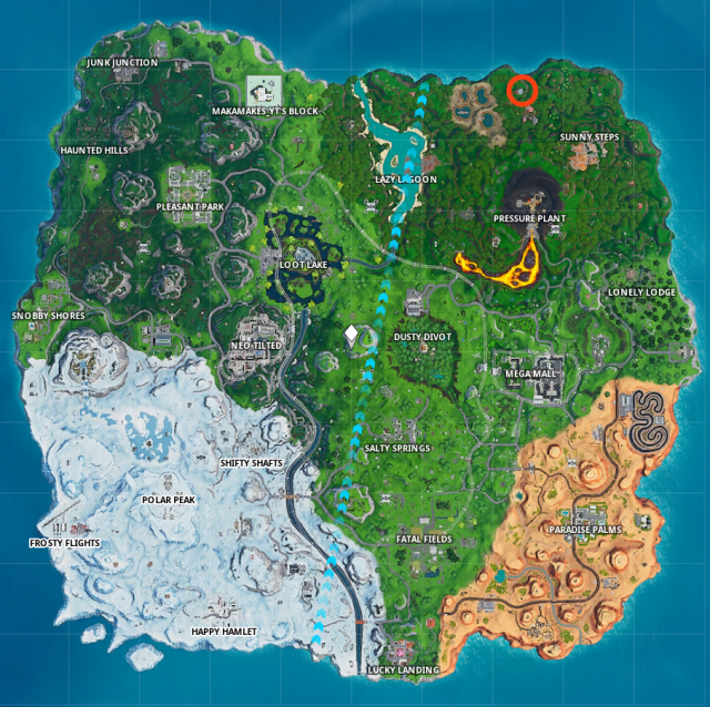 Fortnite Fortbyte 95 map location
