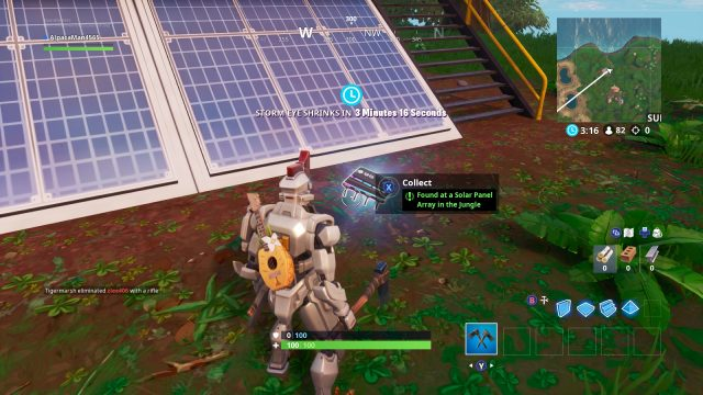 Fortnite Fortbyte 95 solar array in the jungle