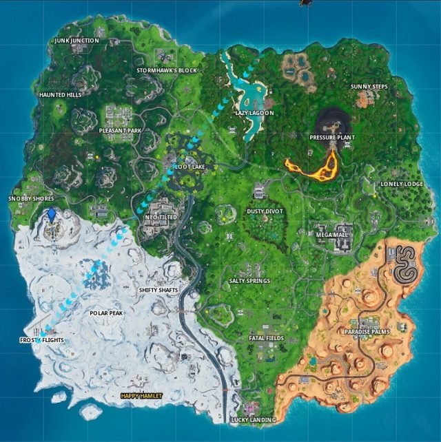 Fortnite Fortbyte 98 Location map