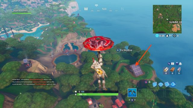 Fortnite Fortbyte 95 location