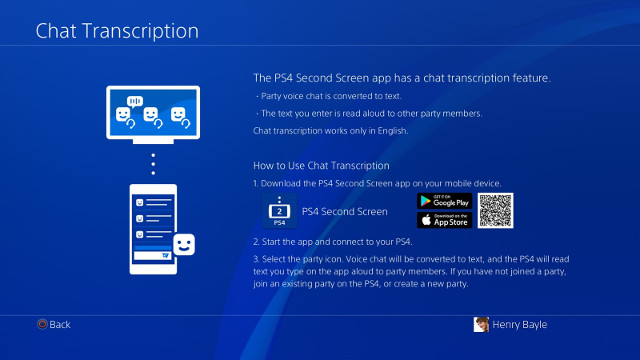 PS4 party chat size increase