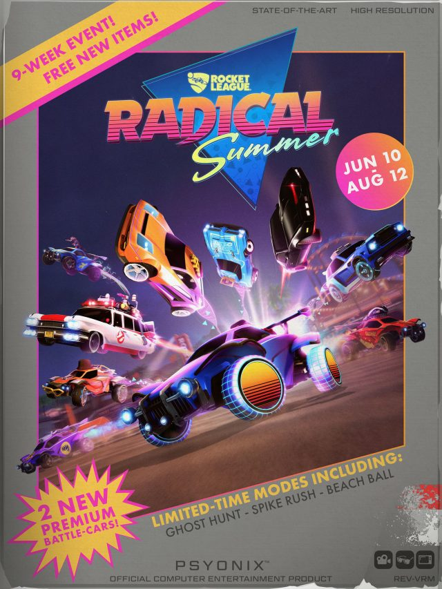 Rocket League Radical Summer's most excellent poster