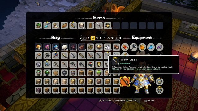 Dragon Quest Builders 2 Falcon Blade Upgrade Strongest Weapon