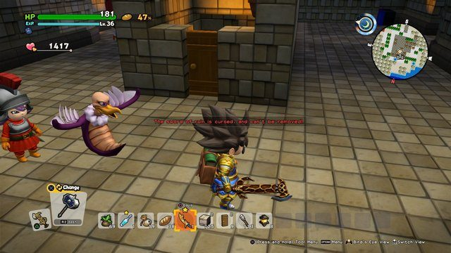 Dragon Quest Builders 2 Sword of Ruin is Cursed Warning small