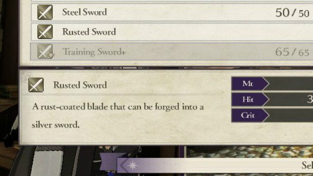 Fire Emblem Three Houses Rusted Weapon Description