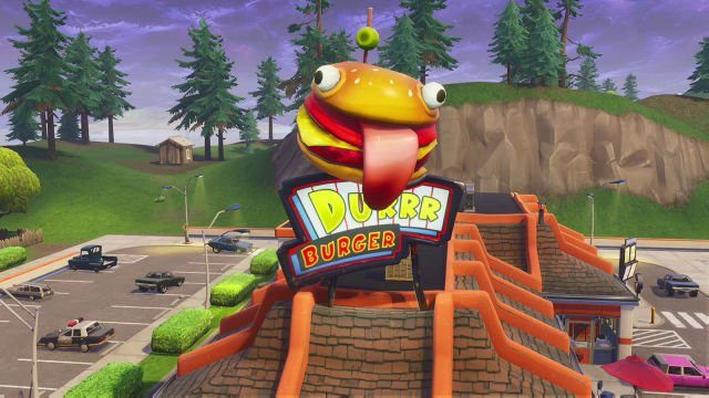 Fortnite 'Dance insider a holographic Durrr Burger head