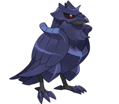 pokemon sword and shield official art corviknight