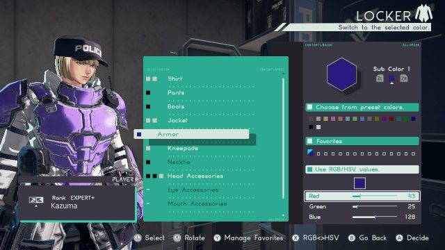 Astral Chain equipment color sets