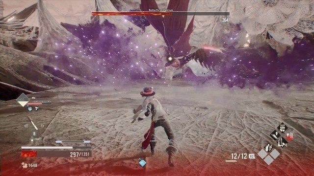 Code Vein Butterfly of Delirium Boss Poison Tornado