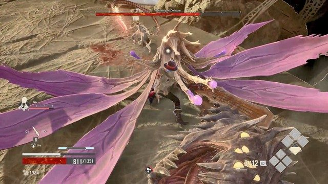 Code Vein Butterfly of Delirium Boss Stagger
