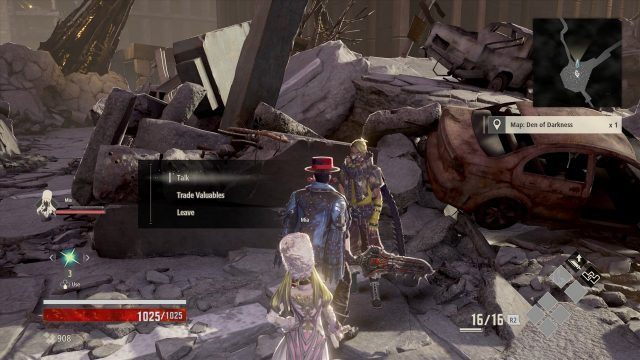 Code Vein First Map Location