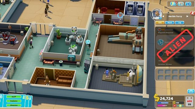 Two Point Hospital Close Encounters Alien Spotted