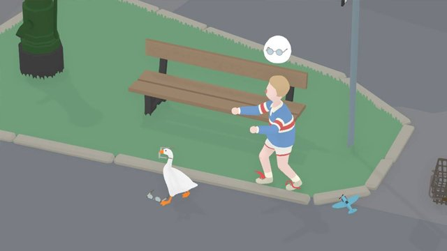 untitled goose game how to make the boy wear the wrong glasses
