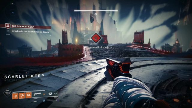 Destiny 2 Scarlet Keep Spawning Restricted