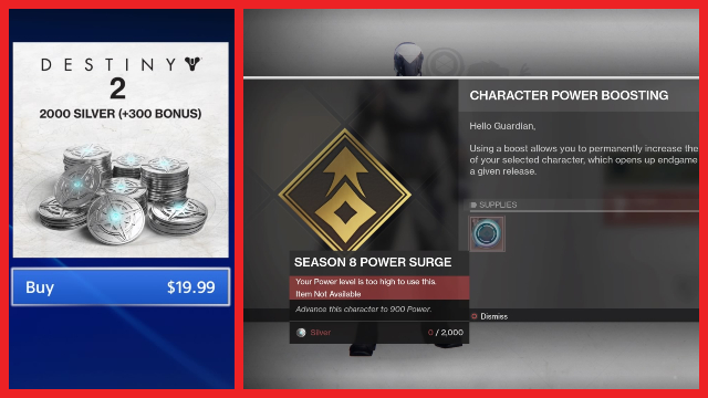 Destiny 2 character power boost How to instantly reach 900 power