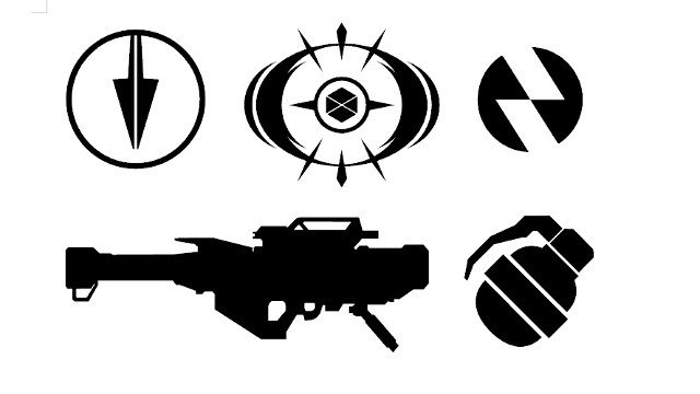 Destiny 2 Subclass Icon and Guns