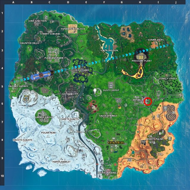 Fortnite Out of Time challenges cheat sheet