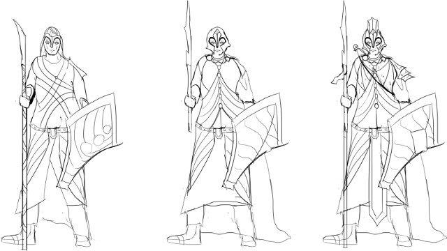 Mount and Blade 2 Lord of the Rings mod sketches