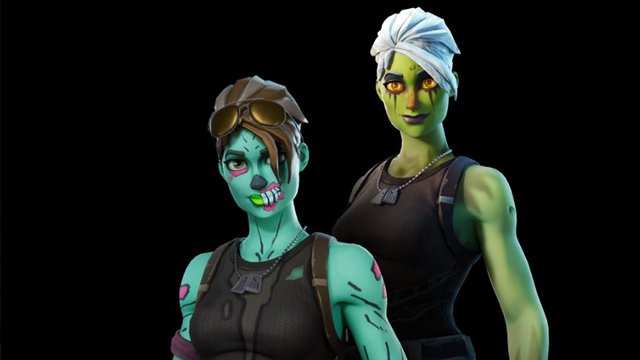 Fortnite white Ghoul Trooper skin