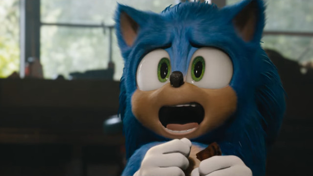 Sonic Movie redesign kneeling
