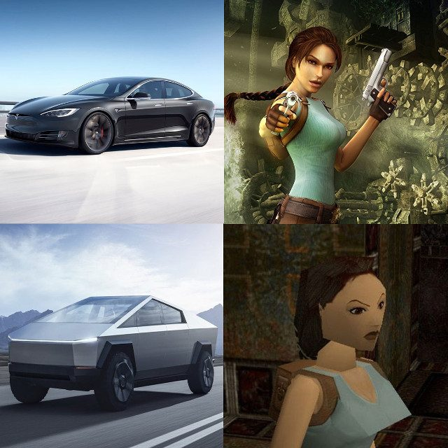Tesla Truck reactions Tomb Raider