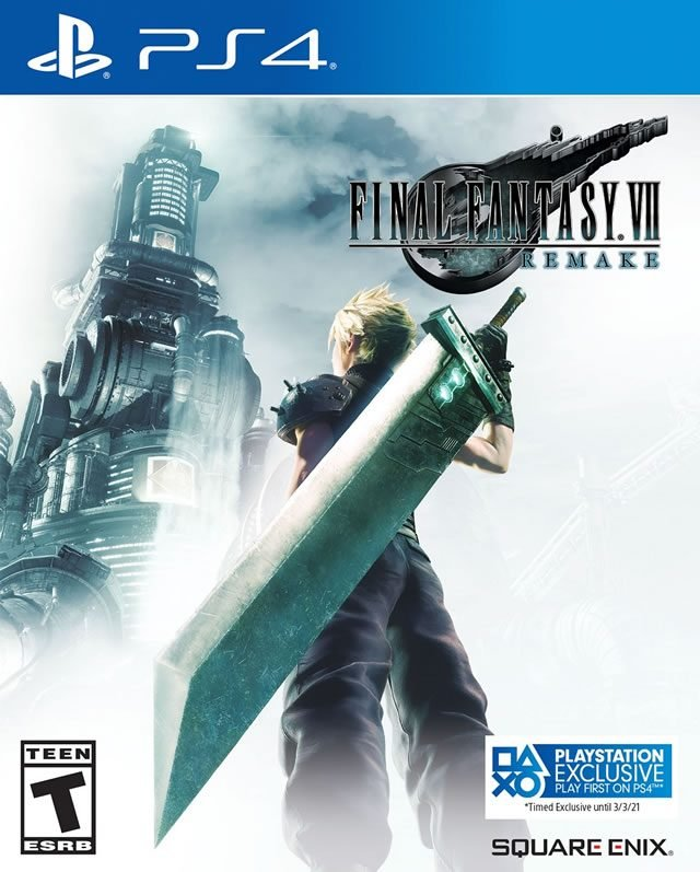 is final fantasy 7 remake a ps4 exclusive box art cover