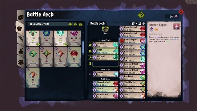 A Long Way Down Deckbuilding Gameplay