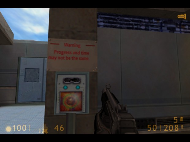 Half-Life Google translate mod sign