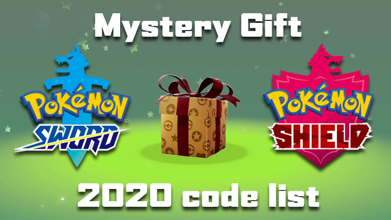 Pokemon Sword and Shield Mystery Gifts 2020 codes list