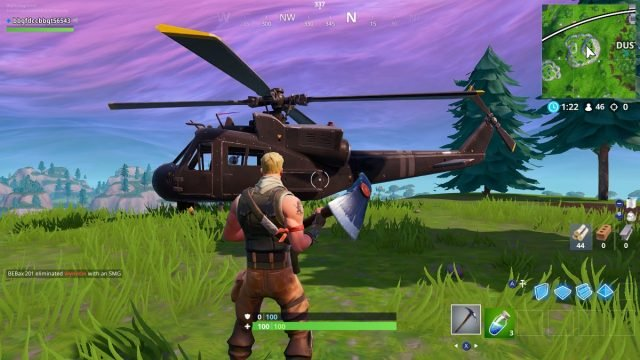 Fortnite helicopters