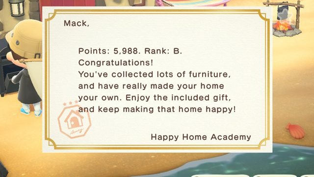 Animal Crossing New Horizons Happy Home Academy Rank