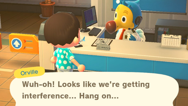 Animal Crossing New Horizons Wuh-oh! Looks Like we're getting interference
