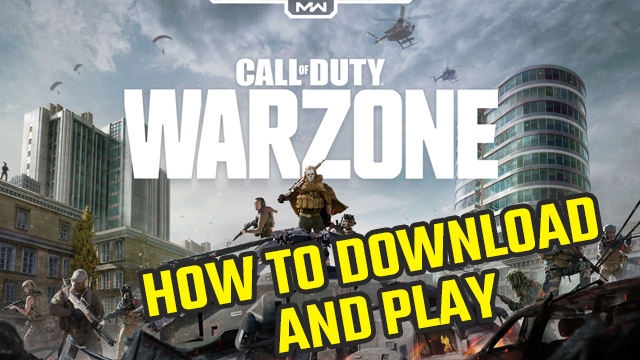 CALL OF DUTY warzone how to download play