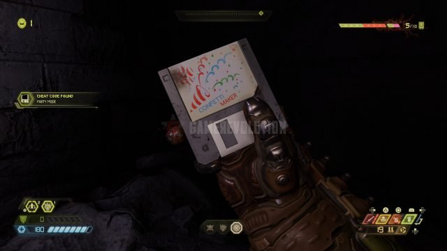 Doom Eternal Party Mode Cheat Code disk location