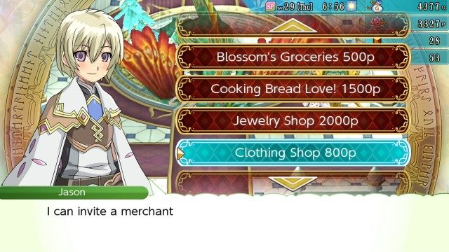 Rune Factory 4 clothing shop unlock